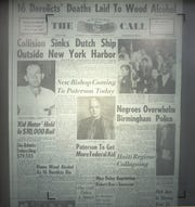 Microfilm of the front page of The Morning Call, from May 8, 1963, shows Ralph Best in the top left corner. (copy photo Tuesday, January 15, 2019)