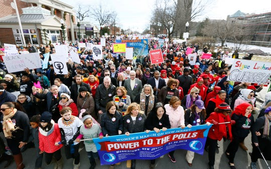 Thousands converged on Morristown for the Women's March on New Jersey in 2018.