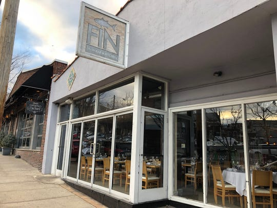 Fin seafood restaurant adjoins the Crosby on Glenridge Avenue in Montclair.