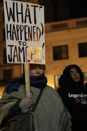 Christena Sawyer, of South Bound Brook, was one of approximately 60 people who came to Paterson City Hall to try to find out what happened to Jameek Lowery. Tuesday, January 15, 2019