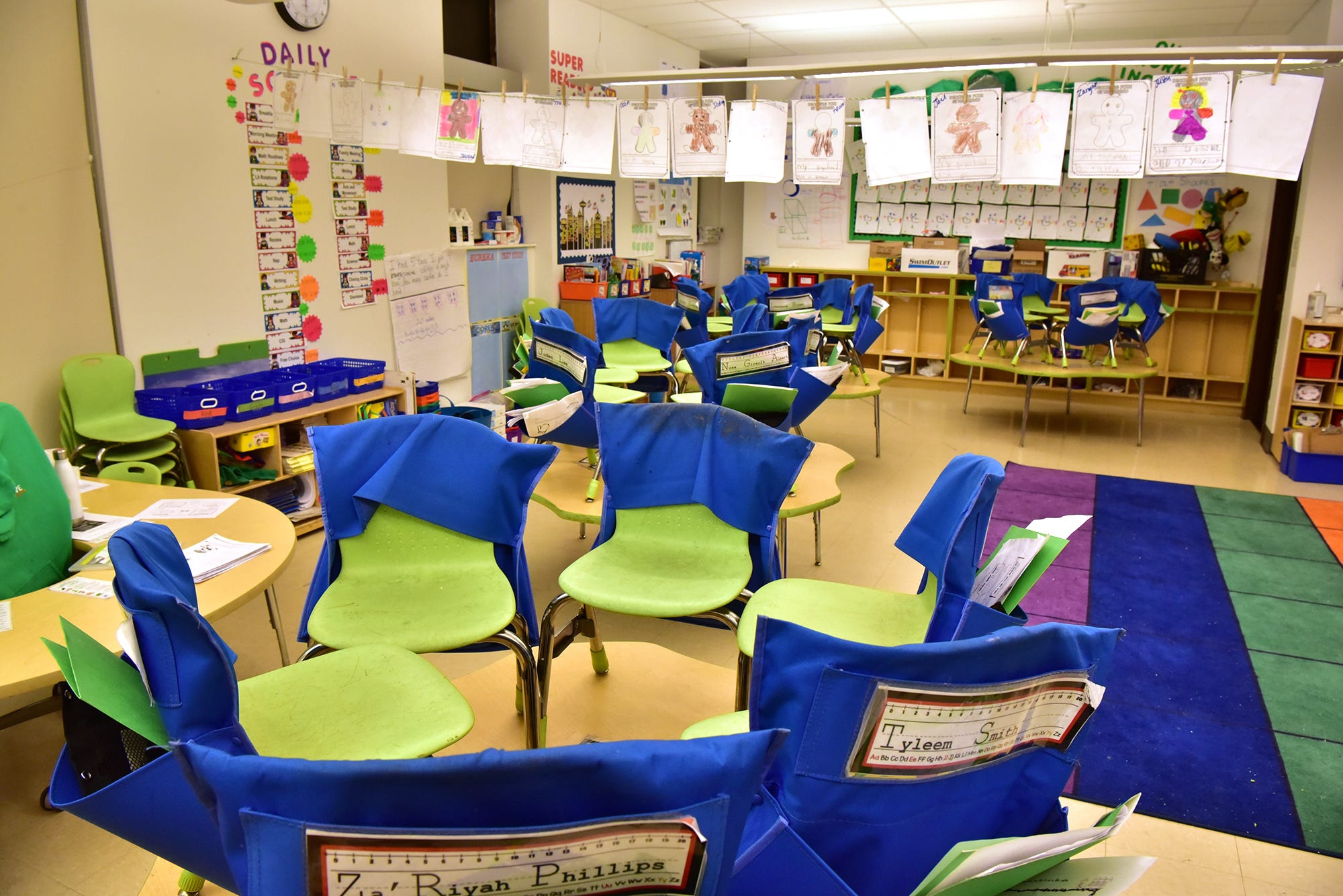 Kindergarten classroom at the 229 18th Avenue Team Academy school in Newark, a building that was renovated for $36 million and is owned by a for-profit charter support group called Pinkhulahoop1 LLC.
