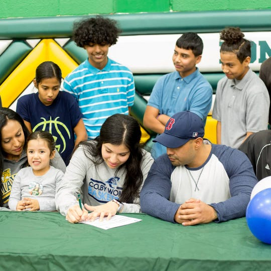 Mayfield High School girls basketball standout Alize Ruiz signed to play college basketball at Colby Community College.