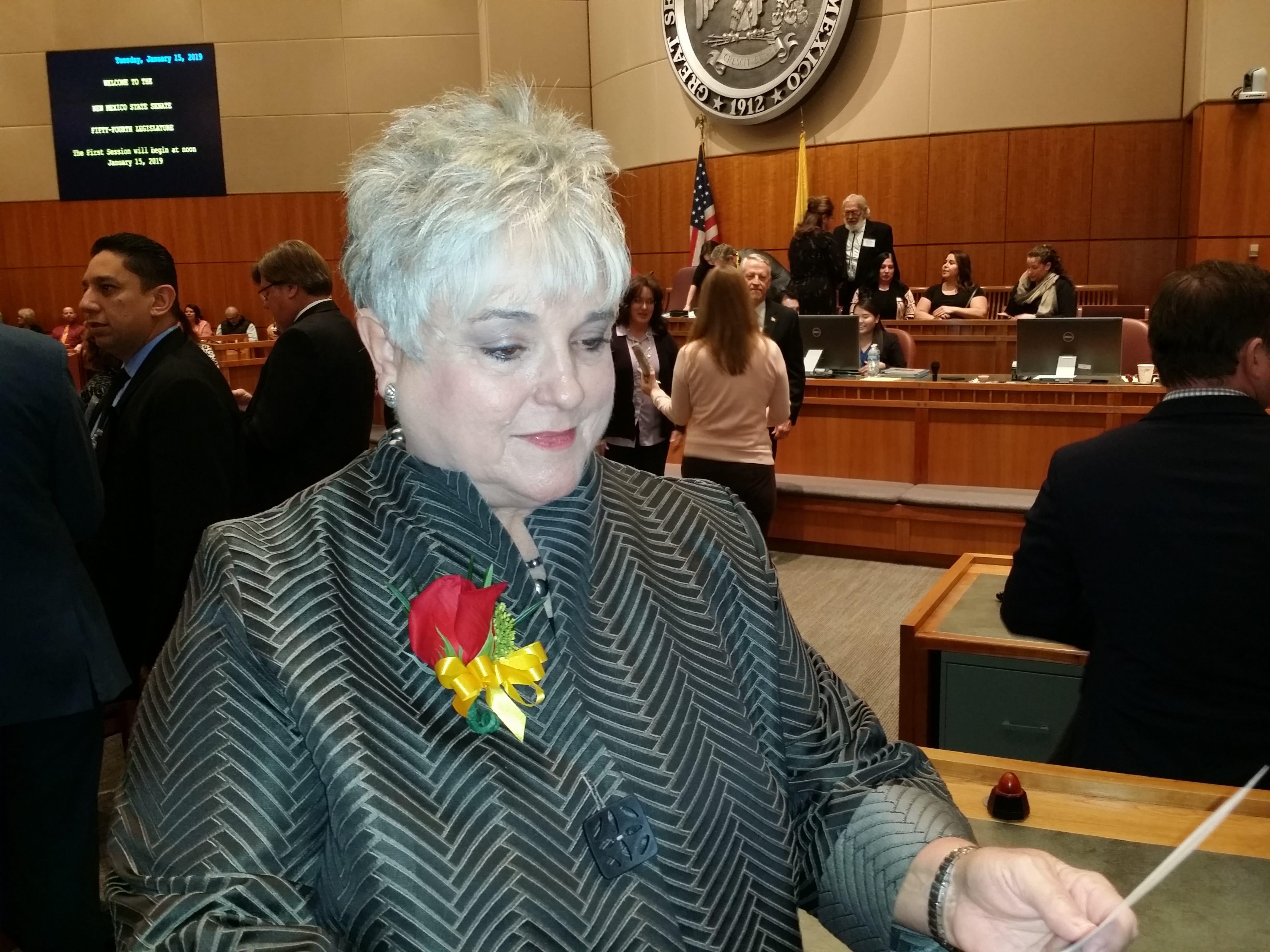 Sen. Gay Kernan during the opening of the 2018 Legislative Session in Santa Fe Jan. 15