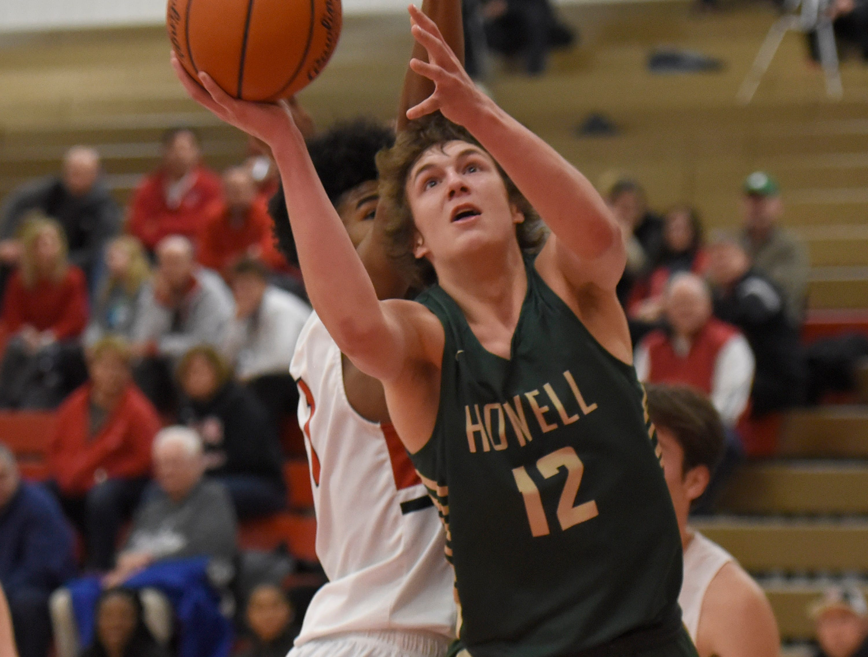 Howell's Tony Honkala (12)  during a KLAA match up won by Canton 74-62 played at Canton Jan. 15, 2019