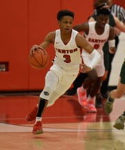 Canton's B. Artis White (3)  during a KLAA match up with Howell won by Canton 74-62 played at Canton Jan. 15, 2019
