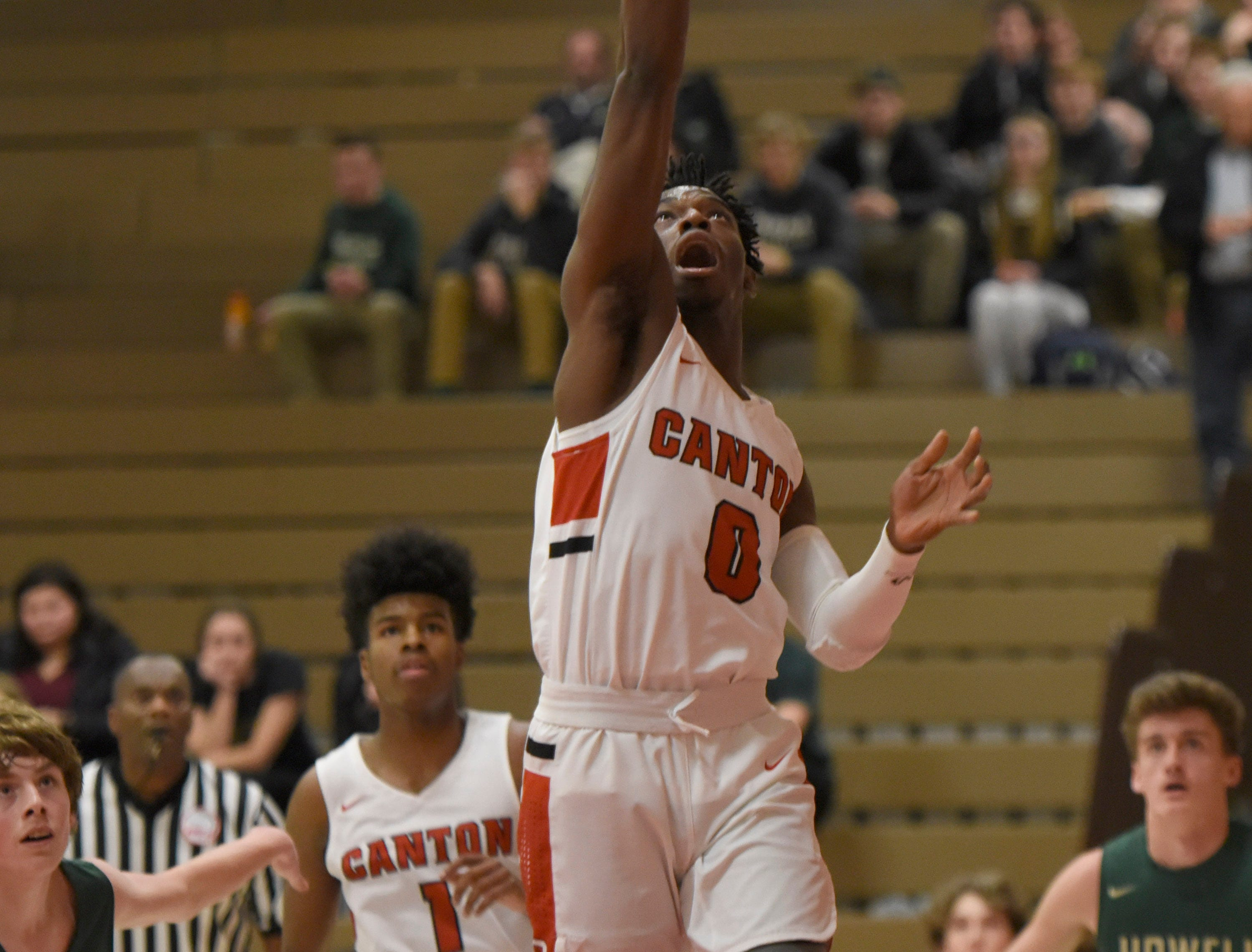 Canton's Vinson Sigmon (0)  during a KLAA match up with Howell won by Canton 74-62 played at Canton Jan. 15, 2019