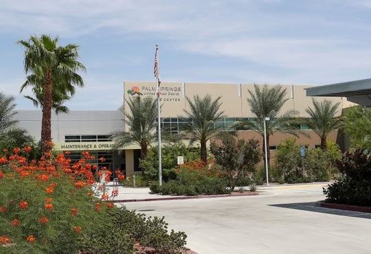 The Palm Springs Unified School District maintenance and operations building in Palm Springs, August 20, 2018.