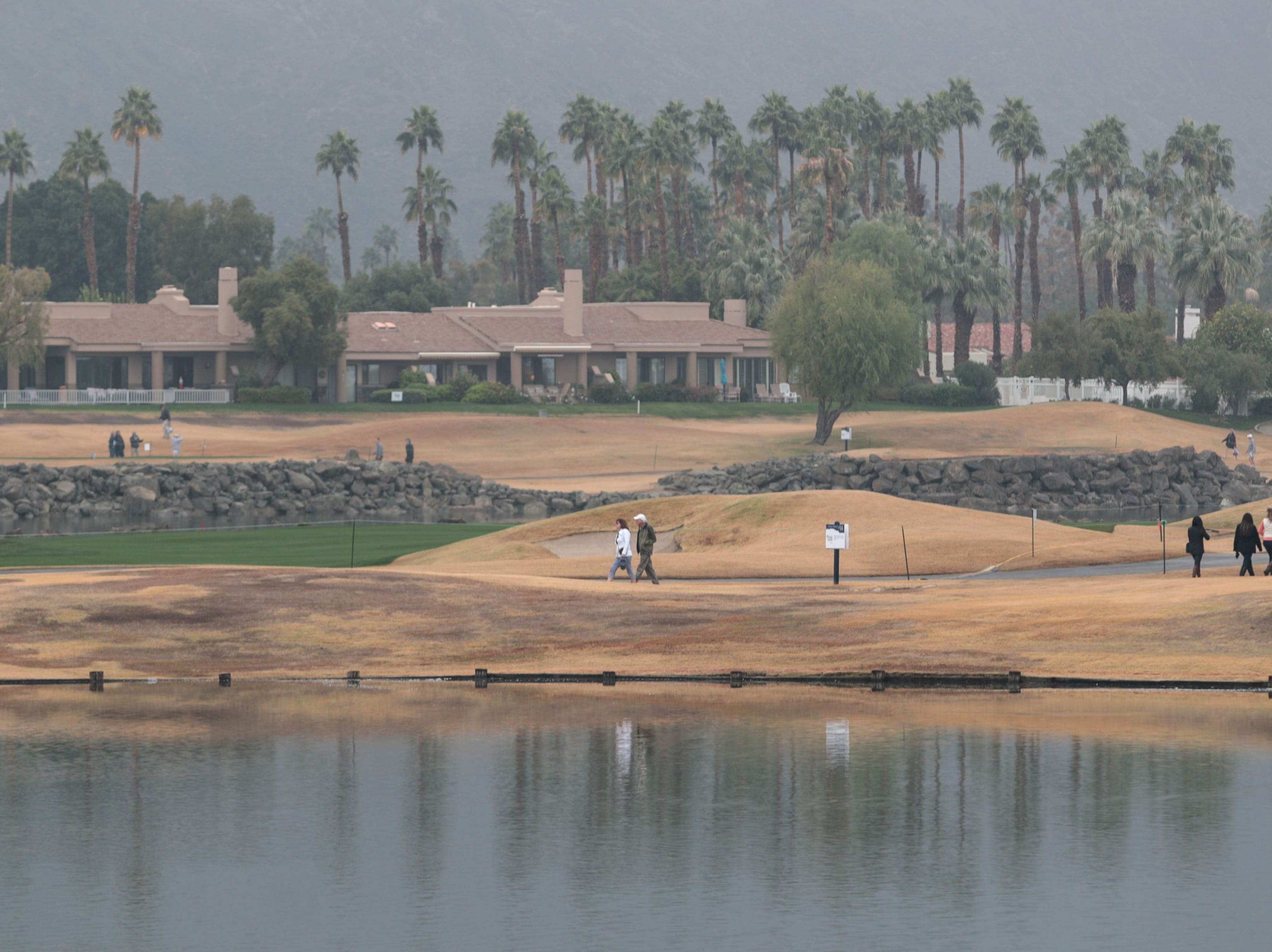 Spectators wander the Stadium Course during the Bob Hope Legacy Pro-Am portion of the Desert Classic on Wednesday, January 16, 2019 in La Quinta.