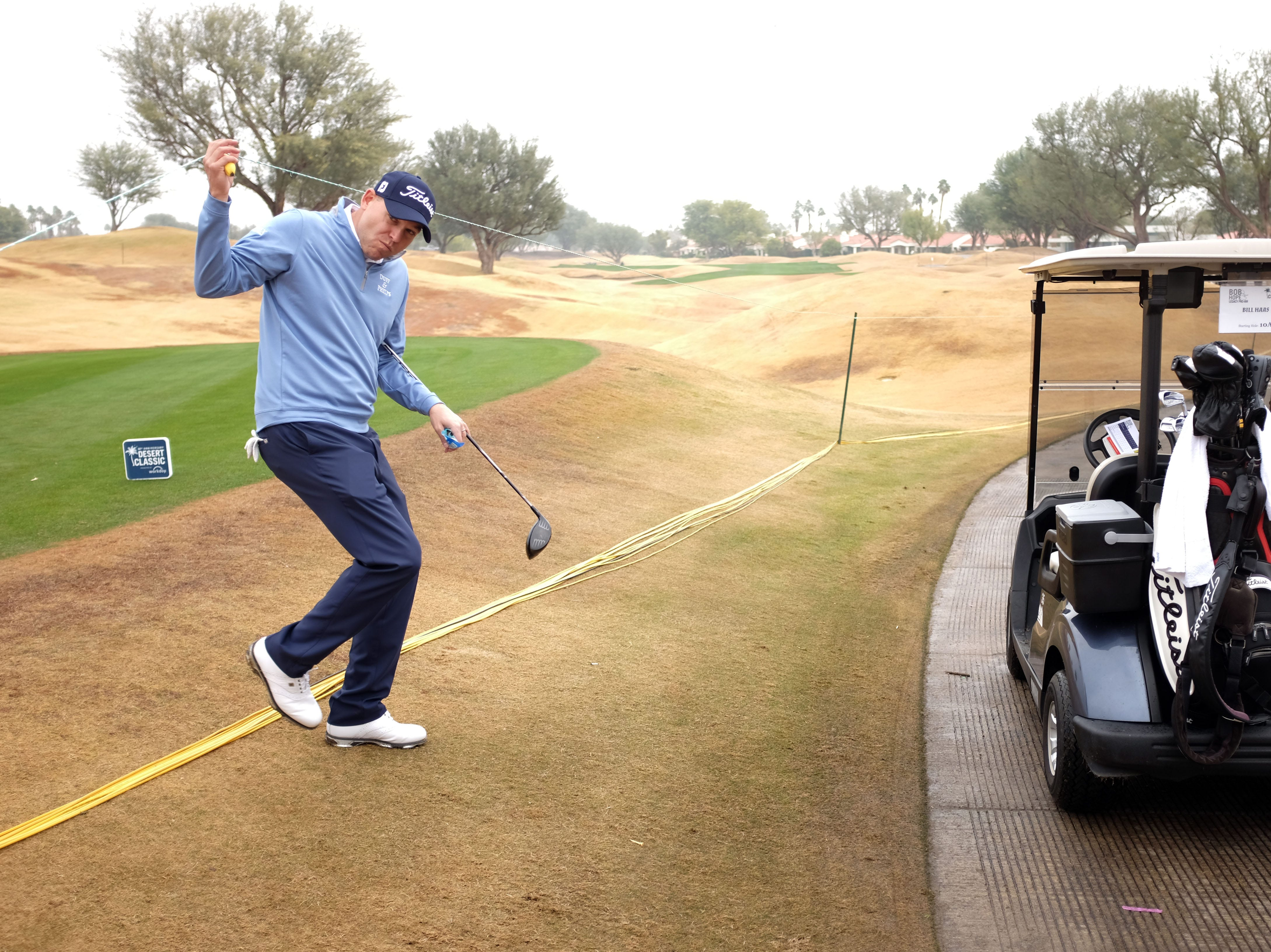 Bill Haas plays in the Bob Hope Legacy Pro-Am as part of the Desert Classic on Wednesday, January 16, 2019
