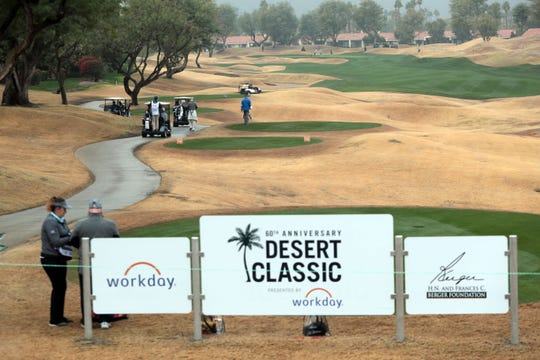 PGA and amateur golfers play during the Bob Hope Legacy Pro-Am portion of the Desert Classic on Wednesday, January 16, 2019 in La Quinta.