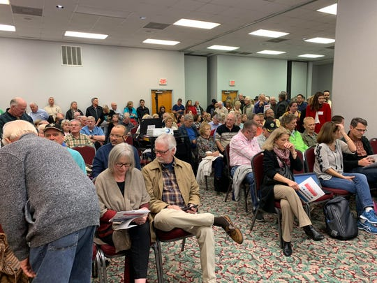 More than 300 people packed into the Navarre Conference Center on Tuesday night for an FDOT public hearing on a proposed U.S. Highway 98 widening project stretching from Mary Esther to Gulf Breeze.