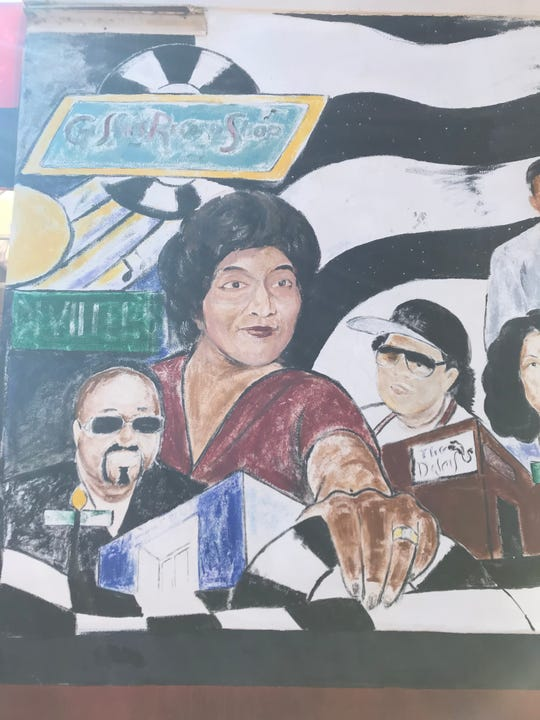 Gussie Streeter is featured on a mural in Pensacola's historic Belmont-DeVilliers neighborhood.