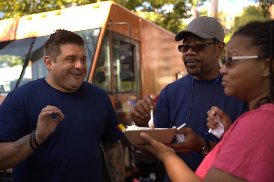 Former Valley chef Brad Miller on the set of his show Food Truck Nation, which airs on Cooking Channel.
