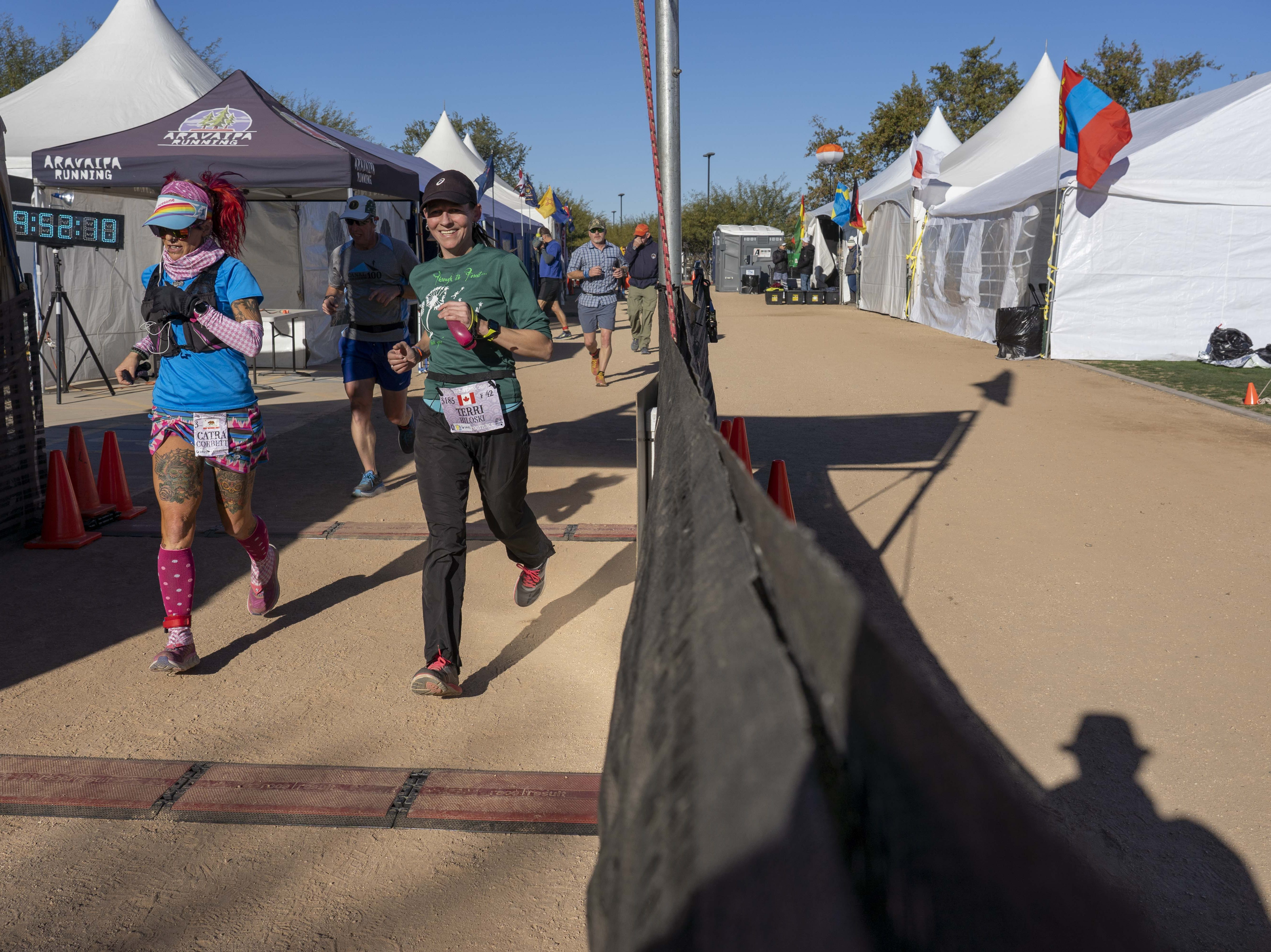 Runners get ready for Across the Years, a 6-day race that attracts endurance runners to Camelback Ranch in Glendale, AZ.