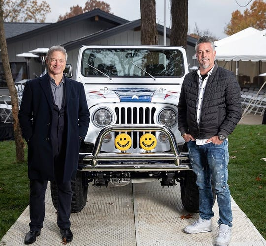 """Gary Sinise has partnered with Richard Rawlings of """"Fast N' Loud"""" to auction off a custom 1981 Jeep CJ7 on Friday at WestWorld in Scottsdale. The sale price will go toward the Gary Sinise Foundation, which servesveterans, first responders andtheir families."""