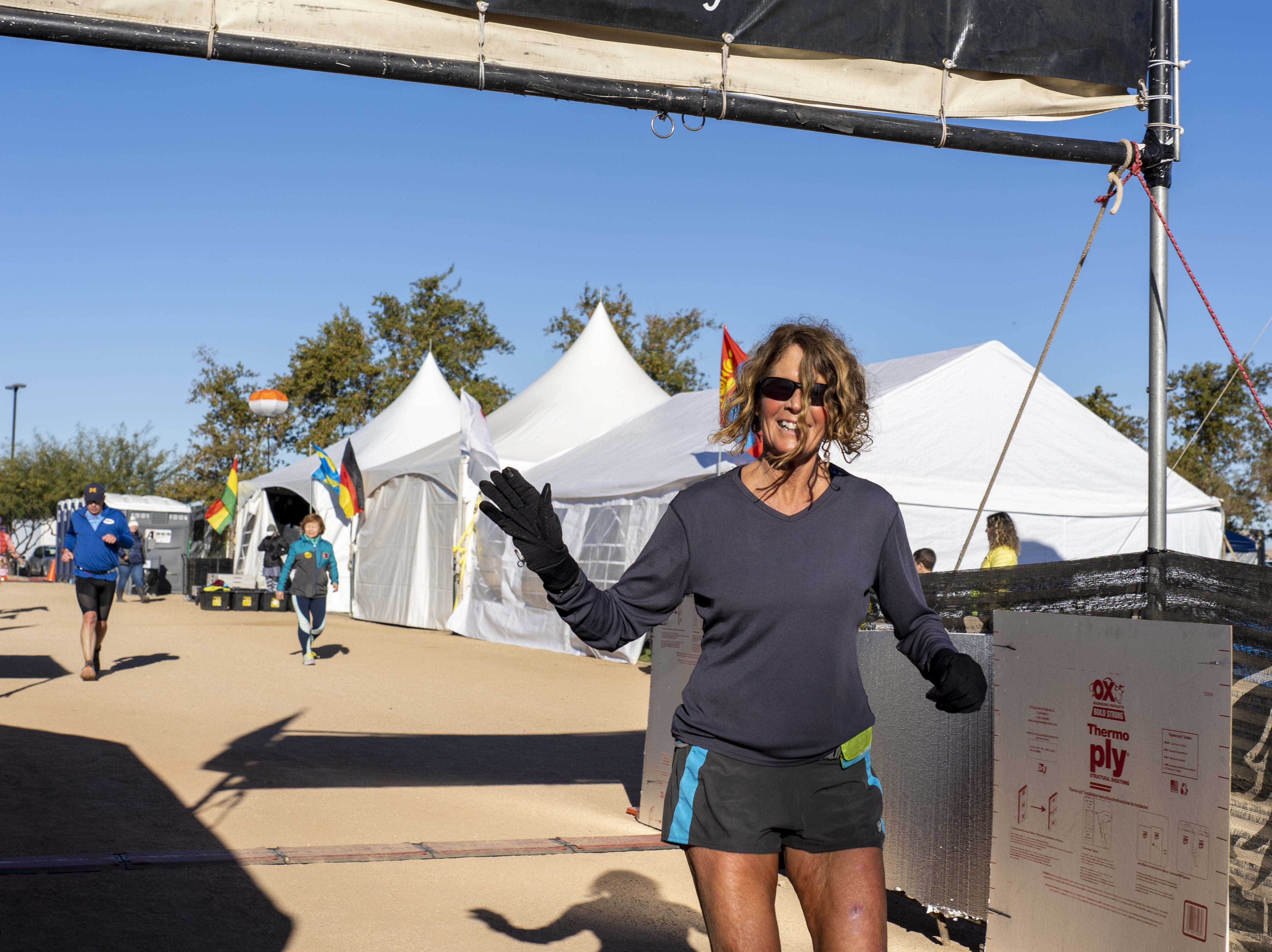 Liz Bauer, 59, of Charleston, South Carolina, takes part in Across the Years, a 6-day race ultra race at Camelback Ranch in Glendale, AZ.