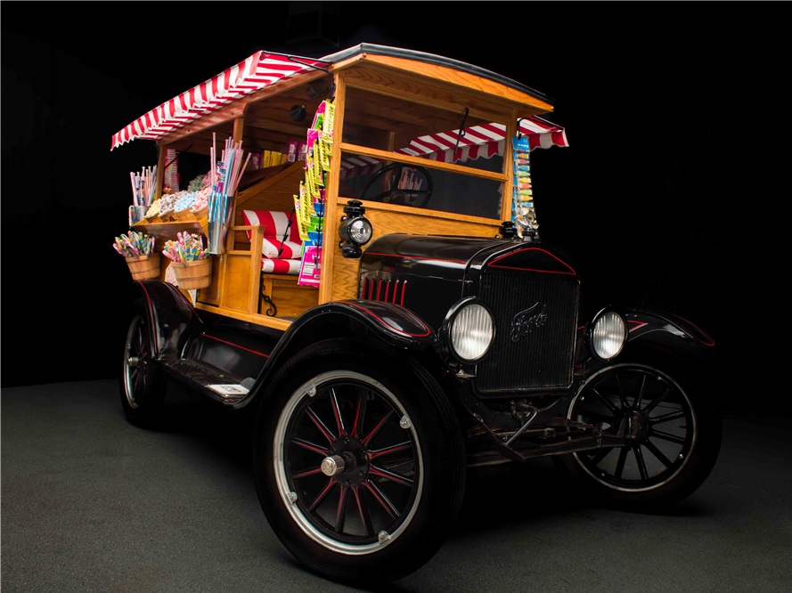 This 1925 Ford Model T Custom Candy Truck will be auctioned off at Barrett-Jackson in Scottsdale on Thursday.
