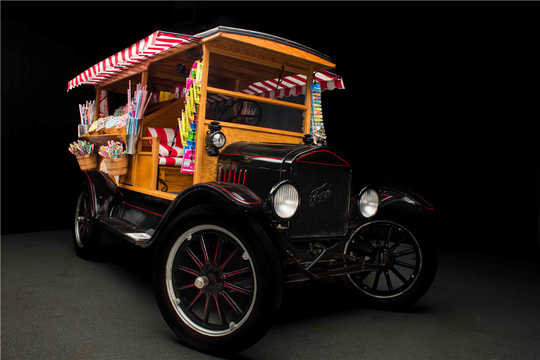 This 1925 Ford Model T Custom Candy Truckwill be auctioned off at Barrett-Jackson in Scottsdale on Thursday.