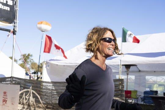 Liz Bauer, 59, of Charleston, South Carolina, runs in Across the Years, a 6-day ultramarathon race at Camelback Ranch in Glendale, AZ.