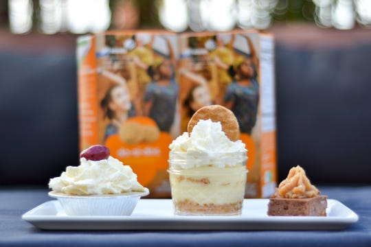 The Flight of Delight by PNPK Craft Slider + Wine Bar is the restaurant's entry in this year's Girl Scout Dessert Challenge. It flaunts mini versions of chocolate peanut butter cheesecake, a PB&J pie and peanut butter banana pudding.