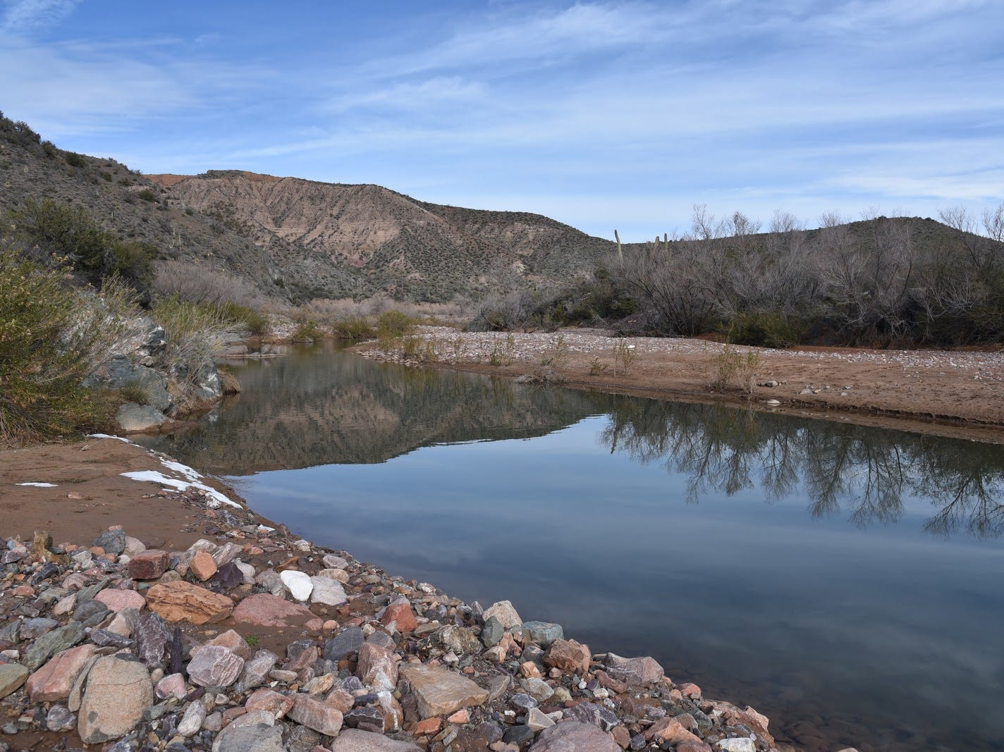 A calm bend in Tonto Creek.