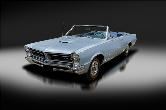 This 1965 Pontiac GTO Convertible will be auctioned off at Barrett-Jackson in Scottsdale on Thursday.