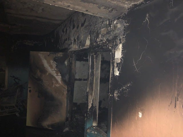 A man died in a fire at an an abandoned building in Tucson on Jan. 16, 2019.