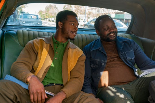 """Stephan James, left, and Brian Tyree Henry in a scene from """"If Beale Street Could Talk."""" The movie opens Friday at R/C Hanover Movies."""