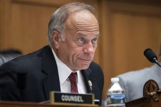 """FILE - In this June 8, 2018, file photo, U.S. Rep. Steve King, R-Iowa, listens during a hearing on Capitol Hill in Washington. On Tuesday, Jan. 15, 2019, the House voted 416-1 for a resolution repudiating King's words expressing puzzlement about why terms like """"white nationalist"""" are offensive. (AP Photo/J. Scott Applewhite, File)"""