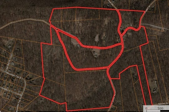 An outline of the Camp Furance Hills property in northern Lancaster County.