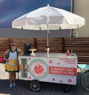 Anne DeAngelis, an interior designer-turned-baker, opened A Bakery Built for Two food cart in summer 2018. DeAngelis sells baked goods from the cart and also creates custom cakes she delivers.