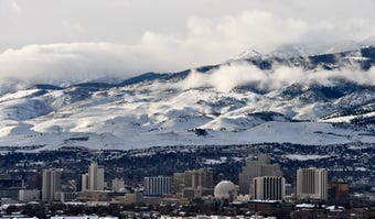 A winter storm brings more heavy rain and snow to the Reno-Tahoe region on Thursday, Jan. 17, 2019.