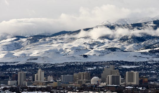 Downtown Reno on Wednesday morning Jan. 16, 2019.