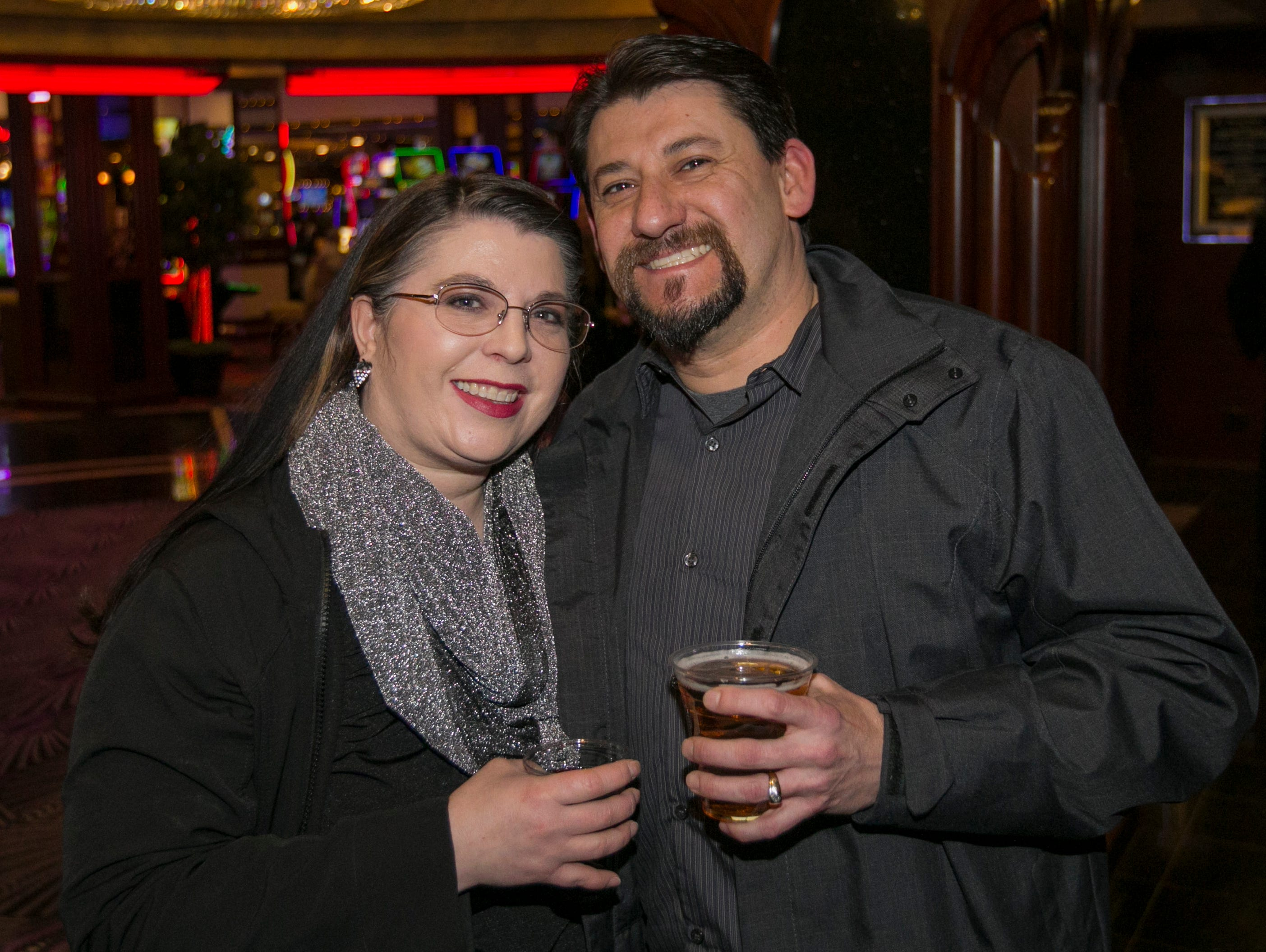 Monica and Chris Robb during the Sheep Dip Rehearsal on Thursday night Jan. 10, 2019 at the Eldorado Hotel Casino in Reno, Nev.