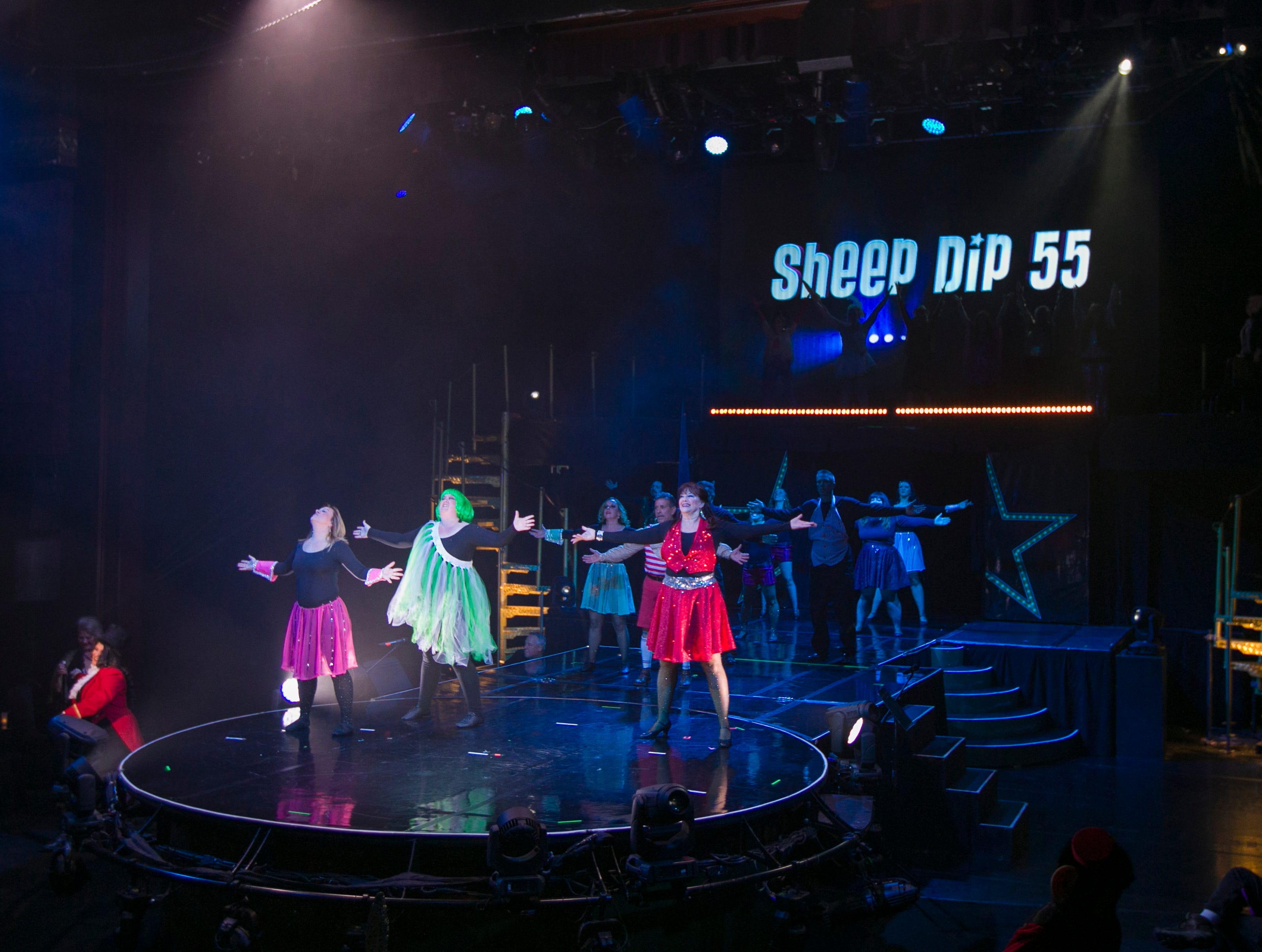 A photograph taken during the Sheep Dip Rehearsal on Thursday night Jan. 10, 2019 at the Eldorado Hotel Casino in Reno, Nev.