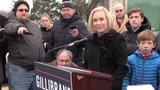 Sen. Kirsten Gillibrand, D-N.Y., spoke to the media in Brunswick on Wed., Jan. 16, 2019.
