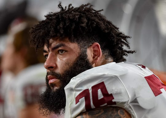 Oklahoma Sooners offensive lineman Cody Ford can play guard or tackle.