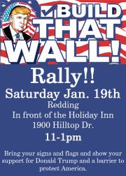 """Rally Sally"" Rapoza is organizing a rally in Redding in support of President Donald Trump and his efforts to build a border wall."