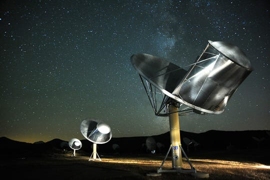 Telescope array operated by the SETI Institute at Hat Creek Radio Observatory in Shasta County.