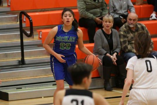 McKay's Diana Cruz Medina (23) during the Sprague vs. McKay girls basketball game at Sprague High School in Salem on Monday, Jan. 15, 2019.