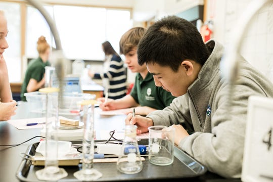 The science labs were upgraded at Regis St. Mary Catholic School.