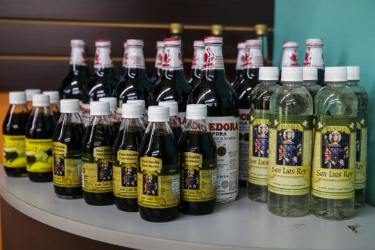 Mexican vanilla extract is one of the top selling items at Leos Imports.