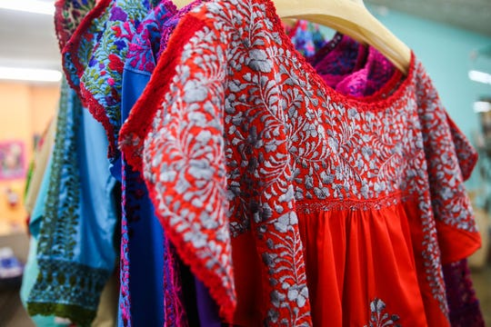 Mexican embroidered dresses are the best-selling items at Leos Imports.