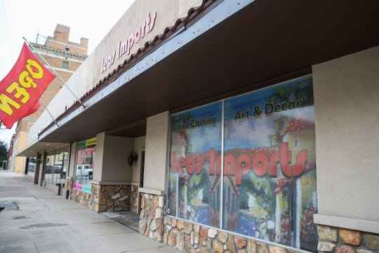 Leos Imports at 25 W. Twohig Ave. sells various Mexican products such as traditional dresses, decor and fiesta items.