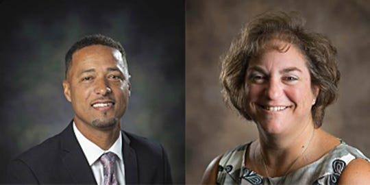 James M. Bennett High School Assistant Principal Kimandi Binns, left, and Principal Amy Eskridge.