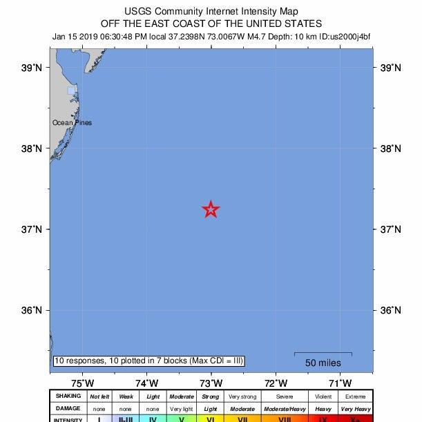 Ocean City earthquake: 4.7 magnitude quake reported off Maryland coast
