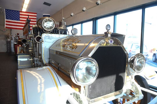 """Seaford Volunteer Fire Department No.1 Truck- A 1919 Seagrave- Chemical & Pumper """"Car"""" was delivered to Seaford in 1921. It was totally restored in 2001."""