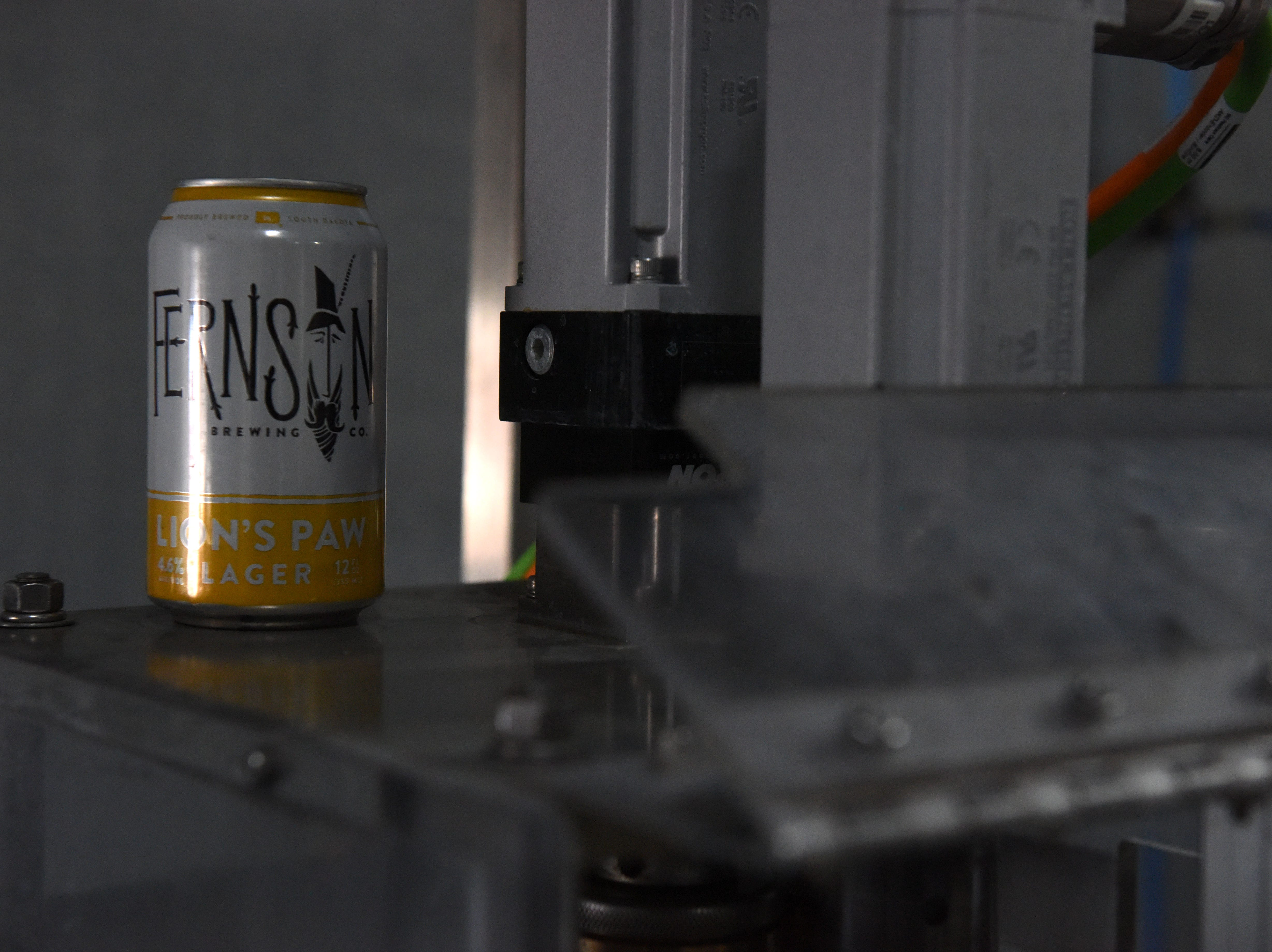 A can of Lion's Paw Lager is shown at Fernson Brewery, Monday, Jan. 7, 2019 in Sioux Falls, S.D.