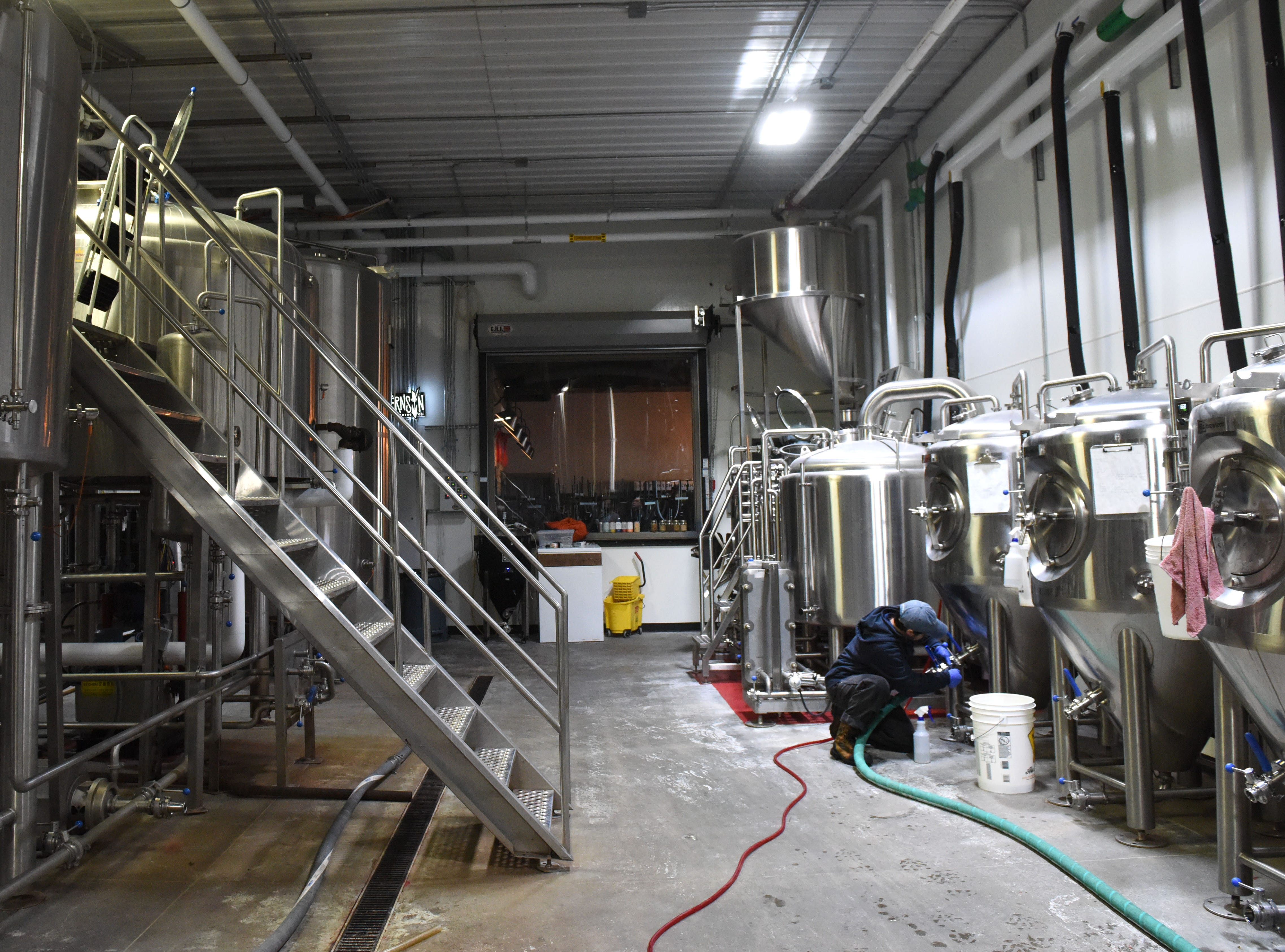 The interior of Fernson Brewery is shown, Monday, Jan. 7, 2019 in Sioux Falls, S.D.