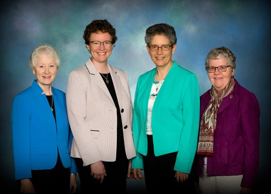 Presentation Sisters leadership team. From left to right, Sister Janice Klein. Sister Vicky Larson, Sister Mary Thomas and Sister Lucille Welbig.